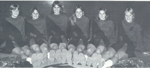 The 1976-77 Basketball cheerleaders