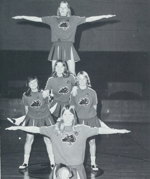 The 1976-77 Steamers Wrestling cheerleaders were;