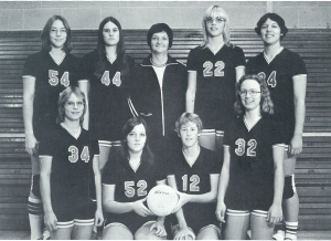 The 1976-77 Steamer Girls Volleyball Team were;