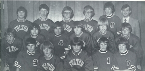 The 1976-77 Steamers at the mat;